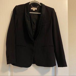 Michael Kors Ponte Blazer with Satin Tuxedo Trim
